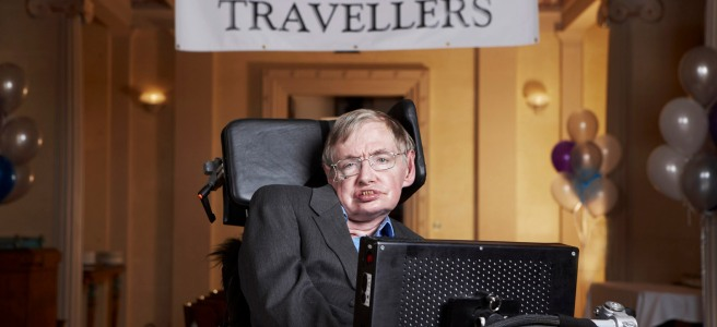 Stephen Hawking awaits Time Travelers